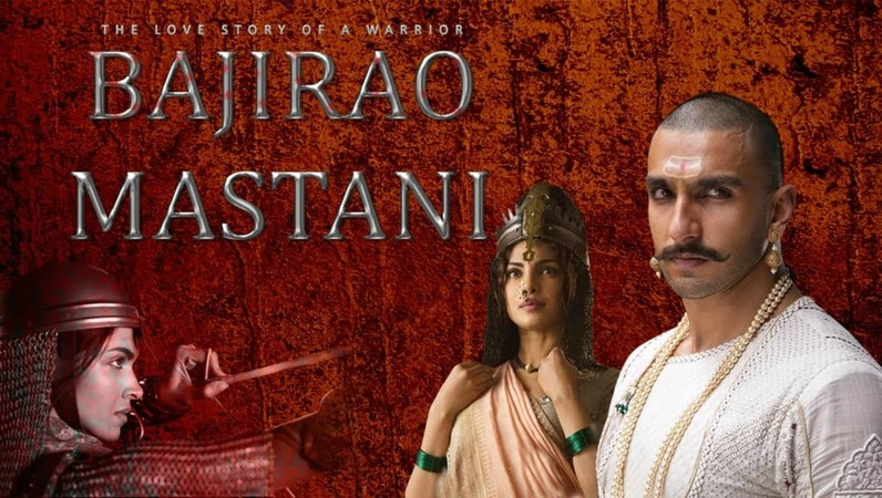 The film, which stars Ranveer Singh (Bajirao), Deepika Padukone (Mastani) and Priyanka Chopra (as Bajirao's first wife Kashibai), is slated for a December 18 release, but Shiv Sena is calling for a temporary ban on the film – Screengrab