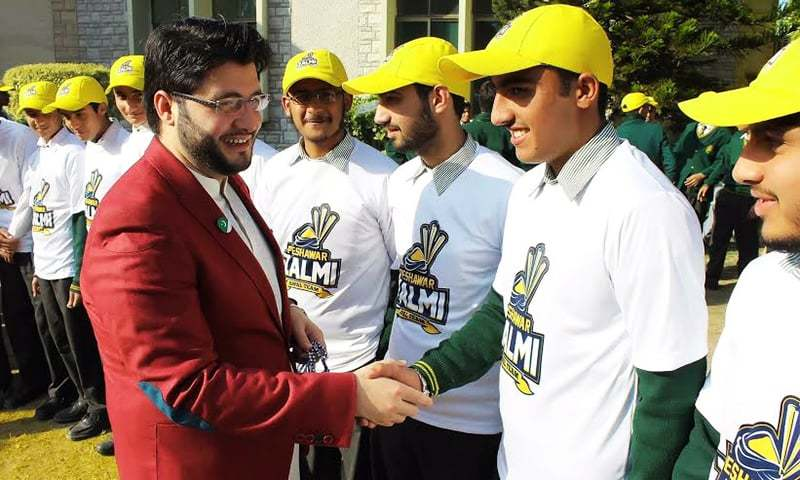 """Whatever we win will be dedicated to the martyrs of APS. This is our cause, the city's cause, KPK's cause,"" says Javed Afridi. — Photo: Peshawar Zalmi"