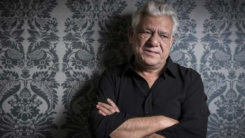 Om Puri is in Lahore for the International Film Festival at the Alhamra Art Centre, Lahore – Photo courtesy independent.co.uk