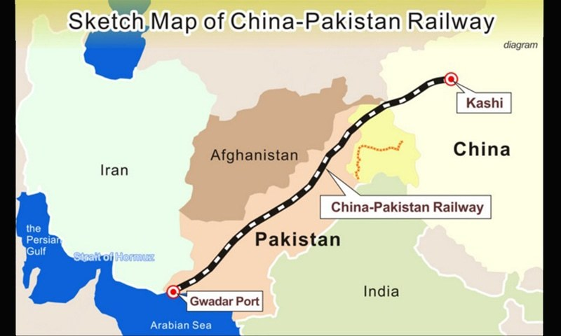 Under the plan, new railway tracks will be laid from Gwadar to Quetta and Jacobabad via Besima. – Photo courtesy Radio Pakistan.