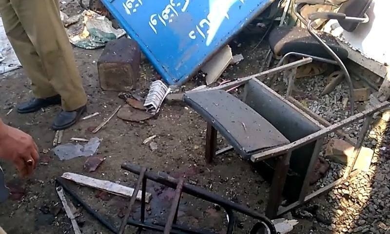 Furniture damaged by the explosion. ─ DawnNews