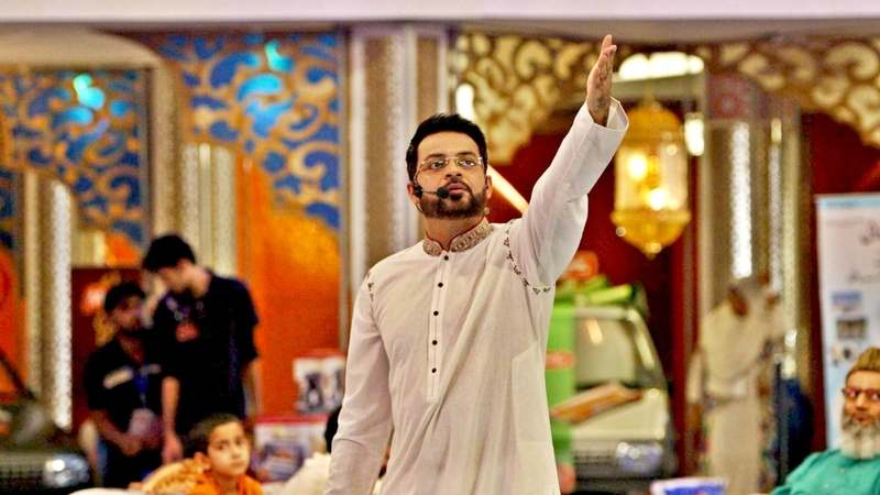 No one can doubt Aamir Liaquat's flair for the dramatic