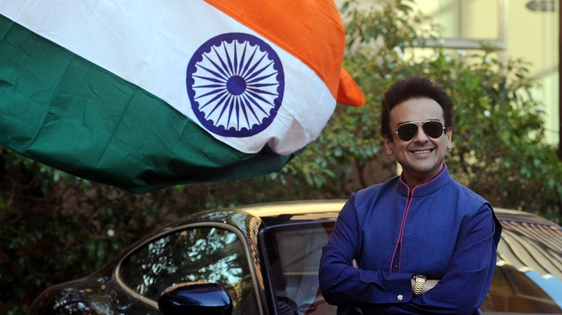 Adnan Sami poses as he celebrates being granted Indian citizenship. —AFP
