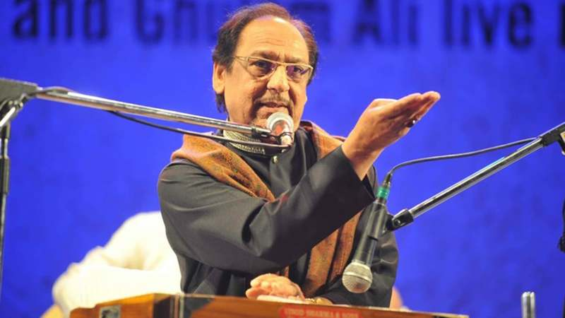 Ghulam Ali performs during a show