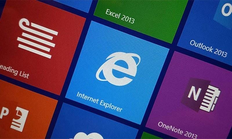 انٹرنیٹ ایکسپلورر کبھی مقبول ترین ویب براؤزر تھا— اے ایف پی فائل فوٹو