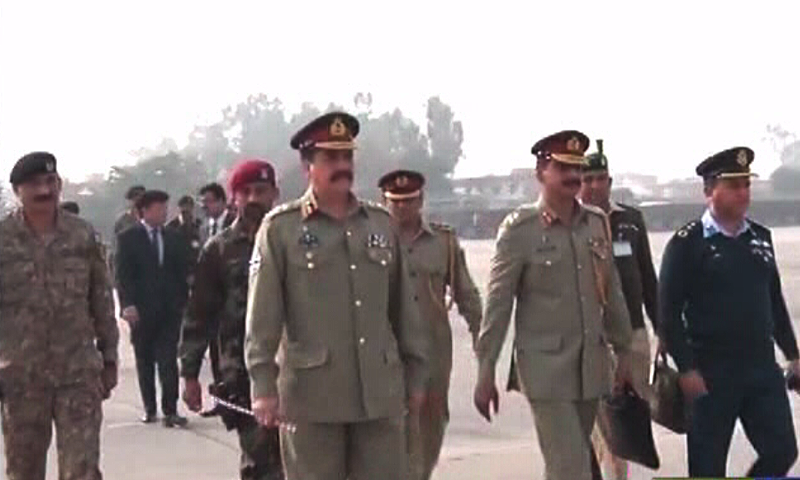 With the army chief in the delegation, the visit has assumed added importance.—DawnNews