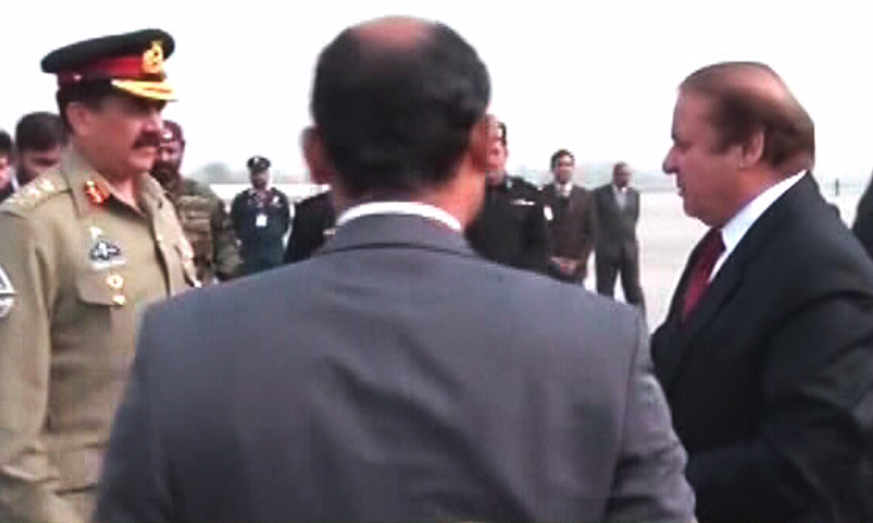 PM Nawaz, Gen Raheel will travel to Tehran after their visit to Riyadh.—DawnNews