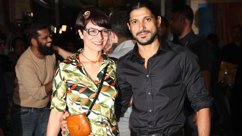 Farhan Akhtar with wife Aduna Akhtar