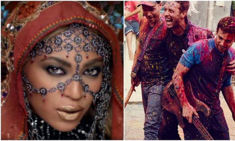 Wait, you're saying all Indians aren't Holi playing slum children who love chilling on rooftops? - Screengrab from 'Hymn for the Weekend'/Coldplay photo courtesy NME