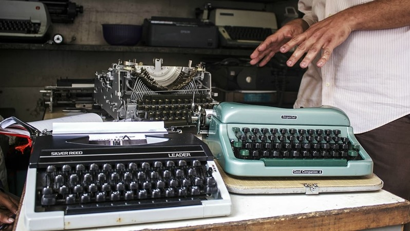 For those who've never used a typewriter before, be warned: it's not like typing on a laptop - All photos by Azmeena Alidina