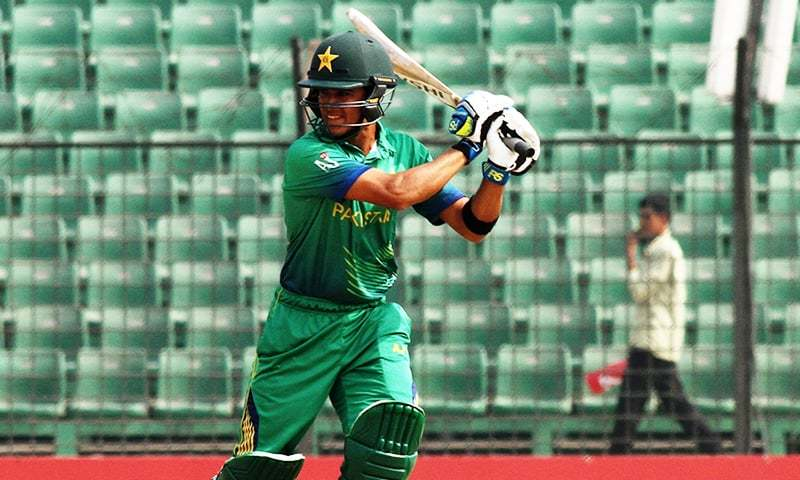 Umair's innings included 15 fours and two sixes. — Photo courtesy: ICC