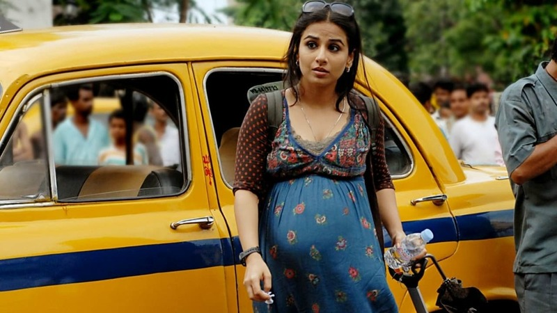 Kahaani (2012) followed Vidya as a pregnant woman in search of her missing husband in Kolkata