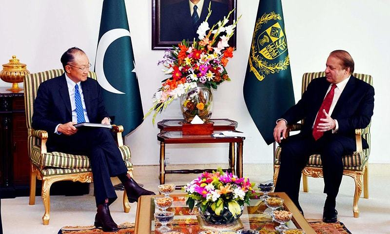 ISLAMABAD: World Bank President Jim Yong Kim called on Prime Minister Nawaz  Sharif at the