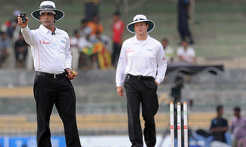 Rauf (left) will be barred from umpiring or being associated with any BCCI-related activities. — AFP