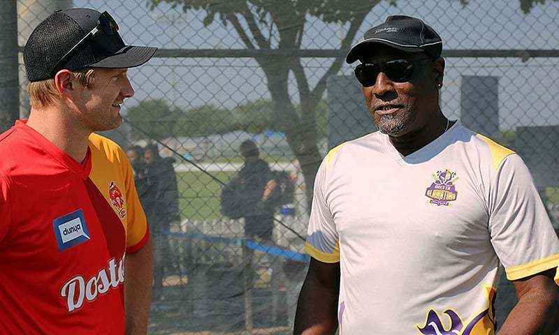 Richards, who is the team mentor of the Gladiators side, had earlier expressed his desire to work with the Pakistan team and said he wouldn't turn down an offer from the team. — Photo courtesy PCB