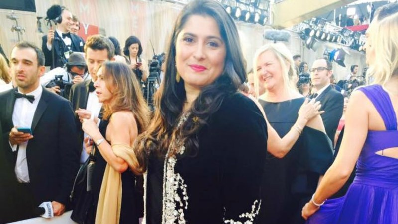 The filmmaker won for her documentary A Girl in the River, which sheds light on honour killing in Pakistan