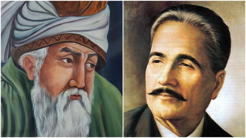 Image result for rumi and iqbal