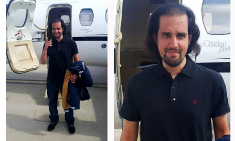 Shahbaz Taseer was recovered by security and intelligence forces from Balochistan's Kuchlak area on Tuesday. —Photo: ISPR