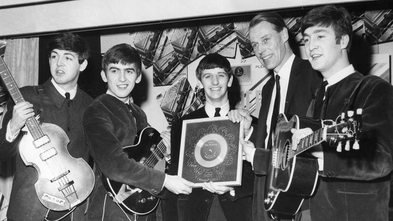 FROM left to right: Paul McCartney, George Harrison, Ringo Starr, George Martin and John Lennon in 1963 - Photo courtesy The Guardian