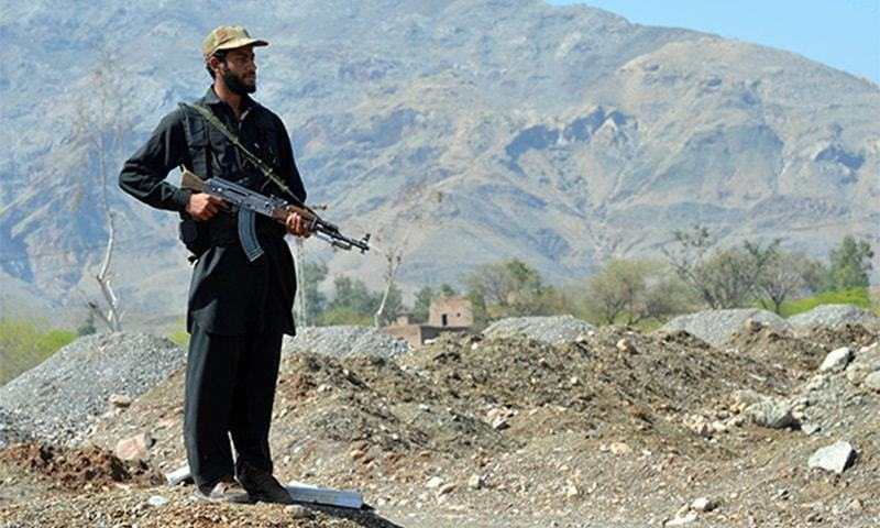Two troops, three suspected militants killed in Chilas gunfight