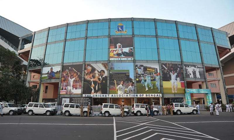 giant pictures of indian cricketers look down upon the security ring around the eden gardens in - Eden Garden