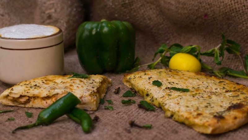 Naan Chaaye offers naan filled with cheese, chicken, beef, mushrooms, vegetables and even chocolate