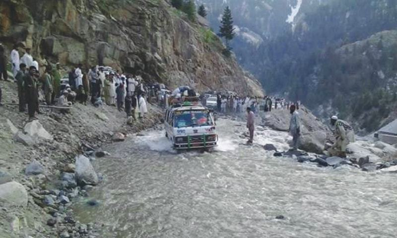 Pakistan's mountain areas are now facing regular flooding and landslides  after torrential rains. -Photo by the writer