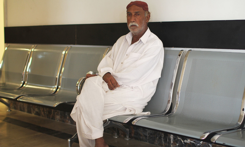 Chacha Khuda Baksh, a retired police Havaldar, has been living in Ormara for years.