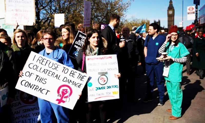 UK junior doctors go on strike