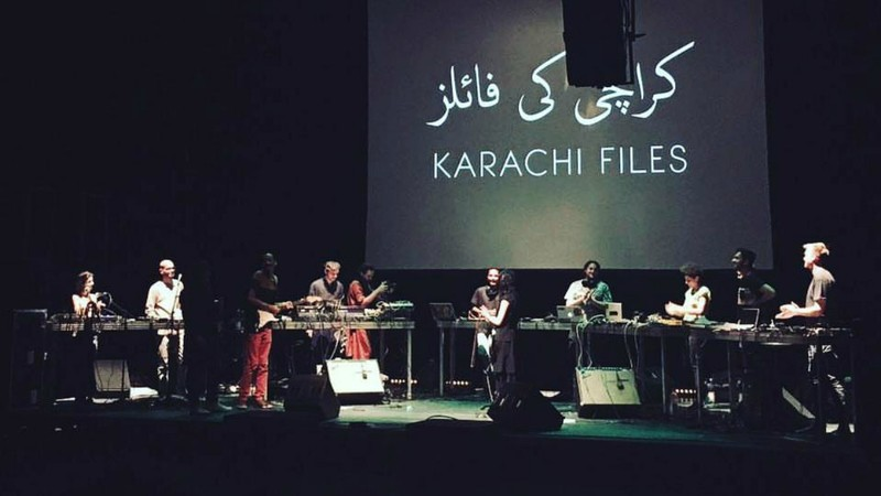 The musicians behind The Karachi Files performing in Berlin - Photo by Khaula Jamil