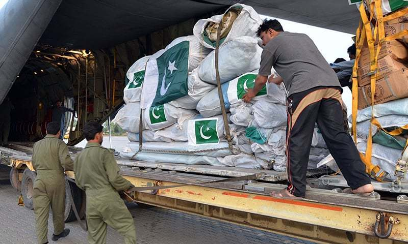 Sri Lanka receives relief aid from Pakistan