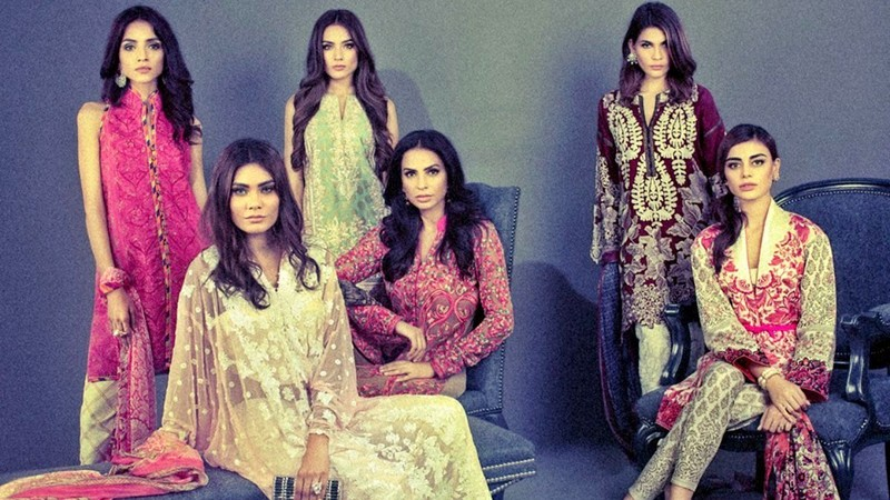 Eid's come early, if you'd believe designer ads - Photo courtesy Sana Safinaz's official Facebook page