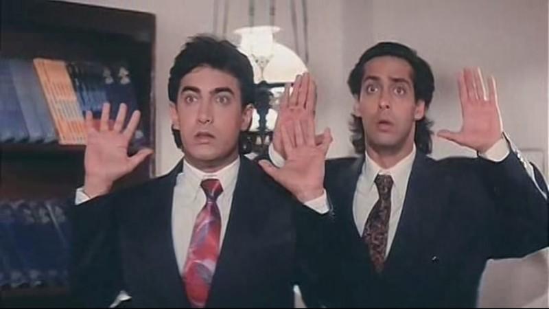 Aamir Khan and Salman Khan played the lead characters in Andaz Apna Apna
