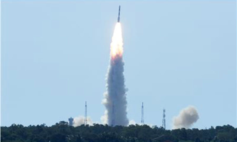 ISRO satellite is launched. — AFP