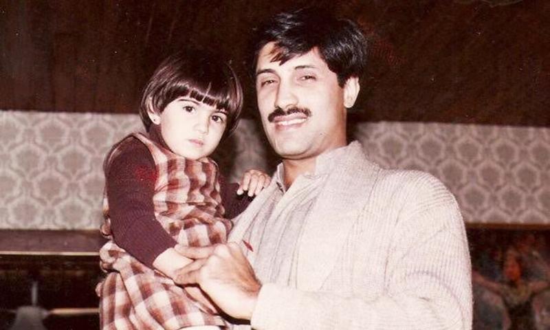 My father Omar Asghar Khan and I.