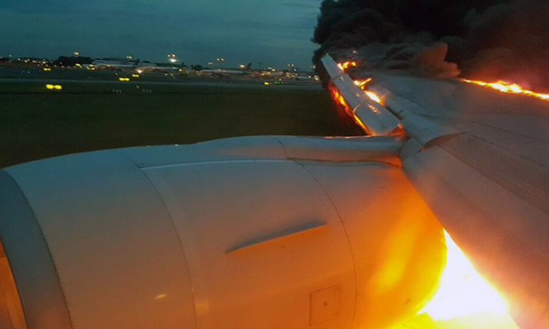 'I just escaped death!': Singapore Airlines flight catches fire