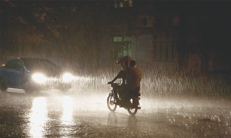 Image result for Heavy monsoon rain lashes Karachi