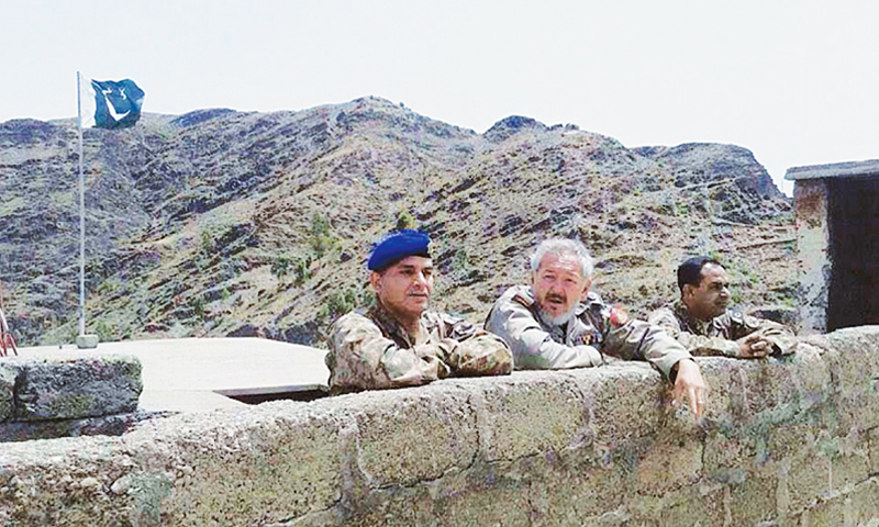 MAJ Ali Jawad Changezi (centre) at the Torkham border. Belonging to the beleaguered Hazara community of Quetta, Maj Jawad suffered fatal wounds during an exchange of heavy gunfire at Torkham between Pakistani and Afghan security forces and died on June 14.