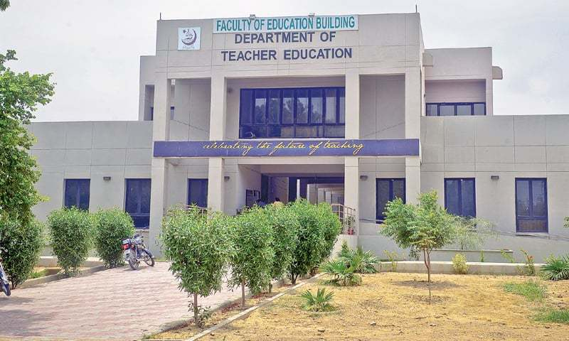 The department of teacher education, part of the faculty of education, at Karachi University.—Fahim Siddiqi/White Star