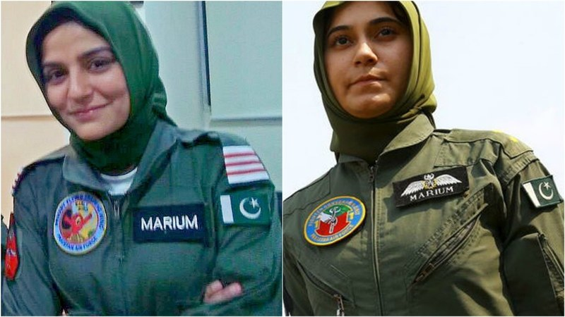 Sanam Baloch as Mariam Mukhtar, Pakistan's first female fighter pilot to embrace martyrdom