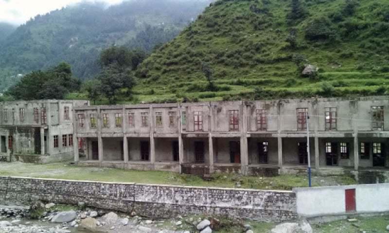 An incomplete school building in Battagram. — Dawn
