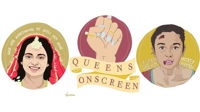 <h1>QueensOnScreen celebrates iconic dialogue by leading women from Bollywood and Hollywood.</h1>