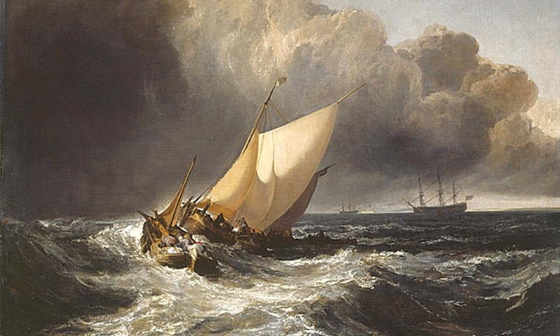 'Boats in a Gale'