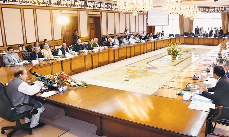 ISLAMABAD: Prime Minister Nawaz Sharif Presides Over A Meeting Of The Federal  Cabinet On Thursday