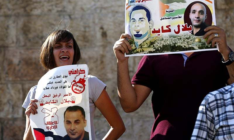 Israel's supreme court shuns plea to unchain Palestinian hunger striker