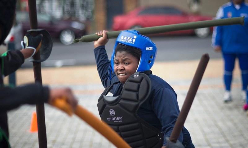 جنوبی افریقہ میں اسٹک فائٹنگ کے روایتی مقابلے