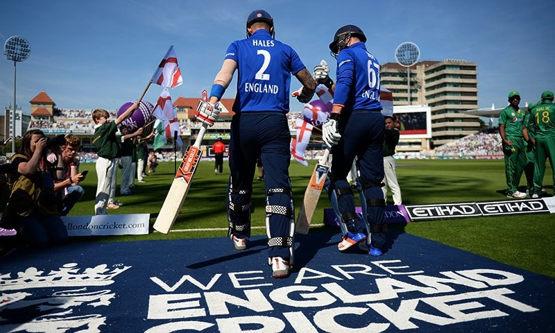 Roy and Hales started the proceedings on a high note for the hosts, scoring boundaries at regular intervals. — AFP