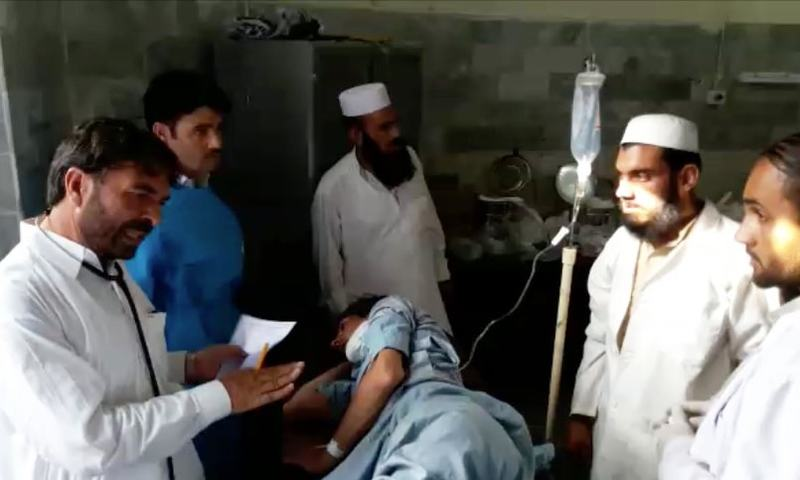 The injured had been transported to hospitals in Bajaur Agency, Charsadda and Peshawar for treatment. ─DawnNews screengrab