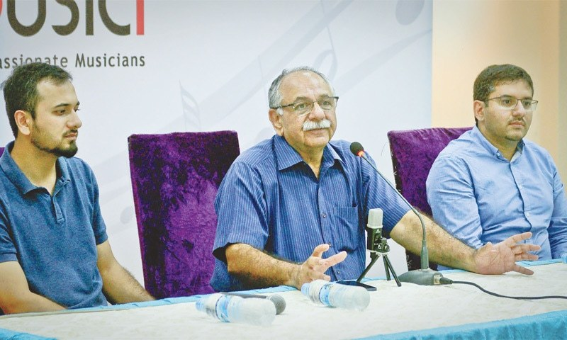 Arshad Mahmud speaks at the press conference on Friday.—White Star