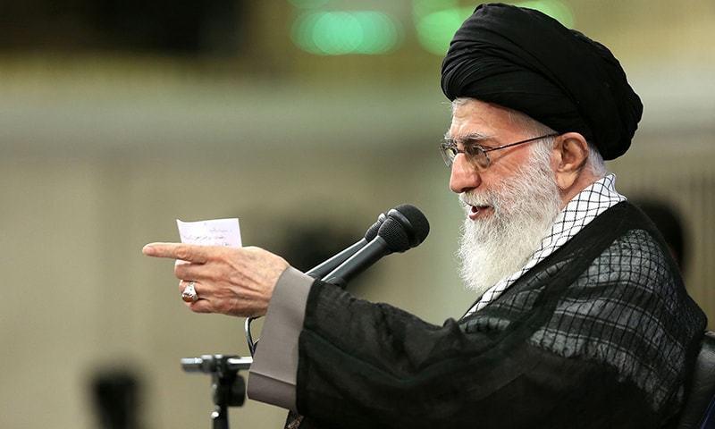 ایران کے سپریم لیڈر آیت اللہ خامنہ—تصویر اے ایف پی